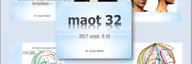 MAOT 32. kongresszus – Dr. Csiszár Róbert előadása